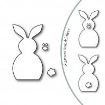Karten-Kunst Stanzschablone - Easter Bunny