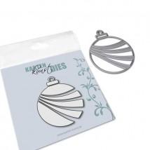 Karten-Kunst Stanzschablone - Wavy Ornament