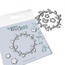 Karten-Kunst Stanzschablone - Small Flower Wreath
