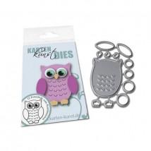 Karten-Kunst Stanzschablone - Mini Owl