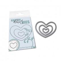 Karten-Kunst Stanzschablone - Mini Pierced Round Hearts