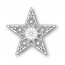 Memory Box Stanzschablone - Holiday Heart Star