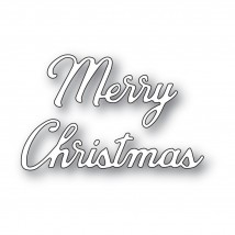 Memory Box Stanzschablone - Merry Christmas Noted Script