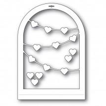 Memory Box Stanzschablone - Heart Streamer Globe