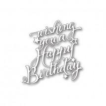 Memory Box Stanzschablone - Happy Birthday Elegant Script