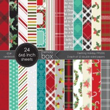 Memory Box Paper Pack 6 x 6 - Dashing Holiday 6x6 pack