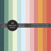 Memory Box Paper Pack 6 x 6 - Cottage Stripes and Dots