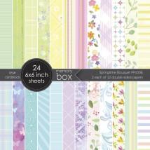 Memory Box Paper Pack 6 x 6 - Springtime Bouquet