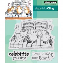 Penny Black Cling Stamps - Celebration Song
