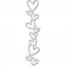 Penny Black Creative Dies Stanzschablone - Line Of Hearts
