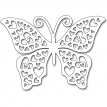 Penny Black Creative Dies Stanzschablone - Hearts Butterfly
