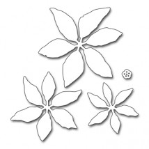 Penny Black Creative Dies Stanzschablone - Layered Poinsettia