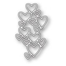 Poppy Stamps Stanzschablone - Heart Screen