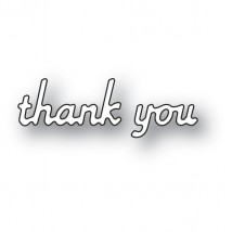 Poppy Stamps Stanzschablone - Simple Thank You