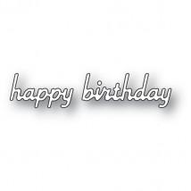 Poppy Stamps Stanzschablone - Simple Happy Birthday