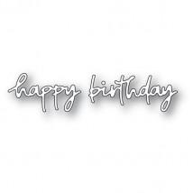 Poppy Stamps Stanzschablone - Doodle Happy Birthday