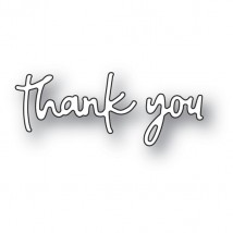 Poppy Stamps Stanzschablone - Doodle Thank You