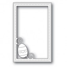 Poppy Stamps Stanzschablone - Decorated Egg Stitched Frame
