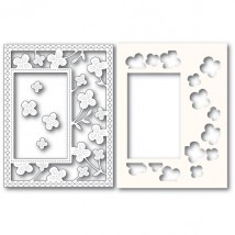 Poppy Stamps Stanzschablone - Summer Blossoms Sidekick Frame and Stencil