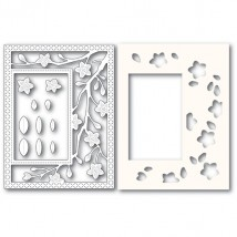 Poppy Stamps Stanzschablone - Blooming Branches Sidekick Frame and Stencil