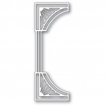 Poppy Stamps Stanzschablone - Reeded Deco Curve Border