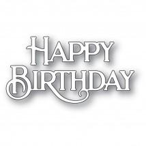 Poppy Stamps Stanzschablone - Happy Birthday Poe Script