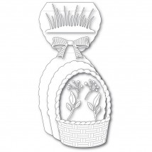 Poppy Stamps Stanzschablone - Woven Basket Pop Up Easel Set