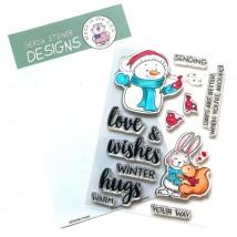 Gerda Steiner Design Clear Stamps - Sending Hugs 4x6