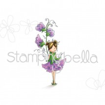 Stamping Bella Cling Stamps - Tiny Townie Garden Girl Sweet Pea