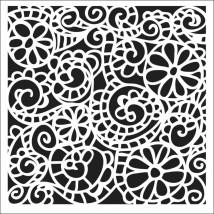 """Crafter's Workshop Template 6""""X6"""" - Swirly Garden"""