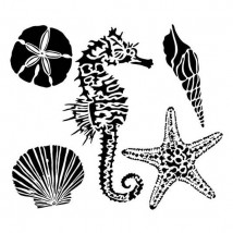"""Crafter's Workshop Template 6""""X6"""" - Sea Creatures"""