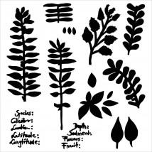 """Crafter's Workshop Template 6""""X6"""" - Herbarium"""