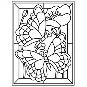 Darice Hintergrund-Prägeschablone - Mosaic Butterfly