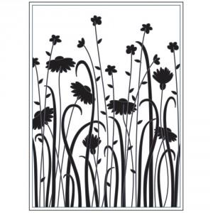 Darice Hintergrund-Prägeschablone - Wildflower