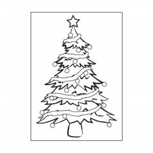 Darice Hintergrund-Prägeschablone - Christmas Tree