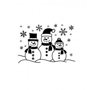 Darice Hintergrund-Prägeschablone - Snowman Family