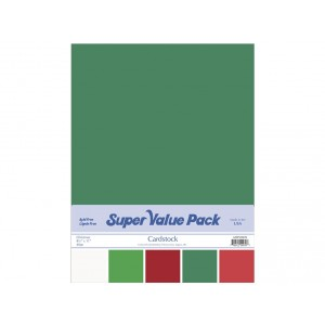 Paper Accents Cardstock Super Value Pack 40 Blatt - Christmas