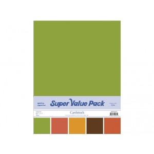 Paper Accents Cardstock Super Value Pack 40 Blatt - Autumn