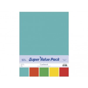 Paper Accents Cardstock Super Value Pack 40 Blatt - Summer