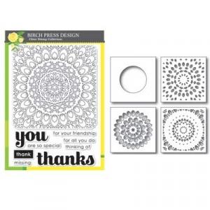 Birch Press Stempel & Template Kit - Thankful Mandala