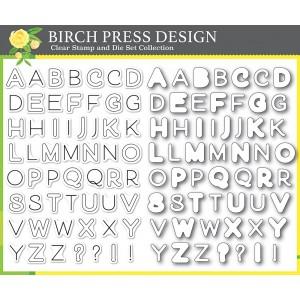 Birch Press Clear Stamp & Die Set - Mod Alphabet Stempel und Stanzen