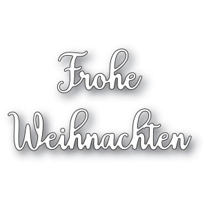 Memory Box Stanzschablone - Frohe Weihnachten