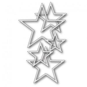 Memory Box Stanzschablone - Stitched Stars