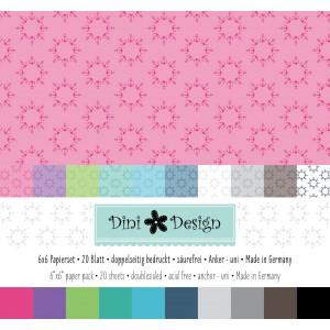 Dini Design 6x6 Papierset Anker-Uni