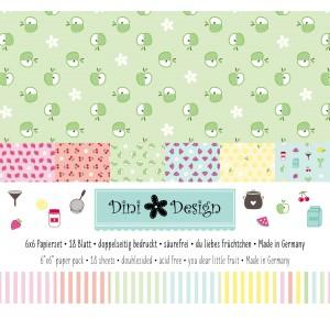 Dini Design 6x6 Papierset Anker-Uni Du liebes Früchtchen