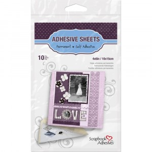 Scrapbook Adhesives Permanent Adhesive Sheets - Doppelseitige Klebebögen 10x15cm