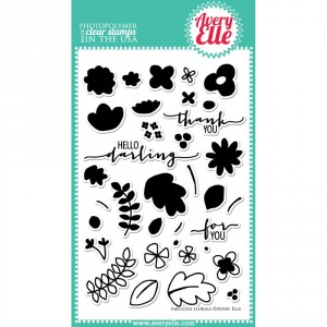 Avery Elle Clear Stamps - Fabulous Florals