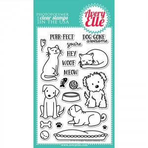 Avery Elle Clear Stamps - Furry Friends