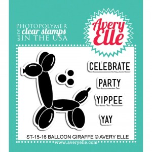 Avery Elle Clear Stamps - Balloon Giraffe
