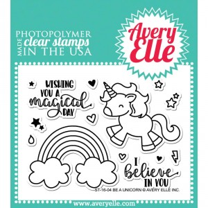 Avery Elle Clear Stamps - Be A Unicorn
